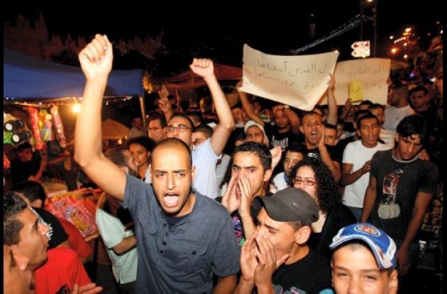 Palestinos protestan por operación de Israel en franja de Gaza