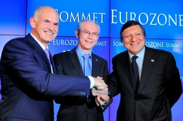 Líderes de Eurozona aprobaron plan de ayuda para Grecia