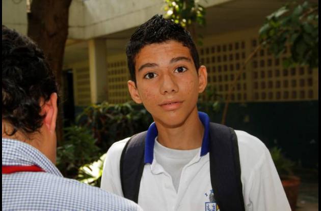 Jorge Ricardo Ortiz, estudiante.