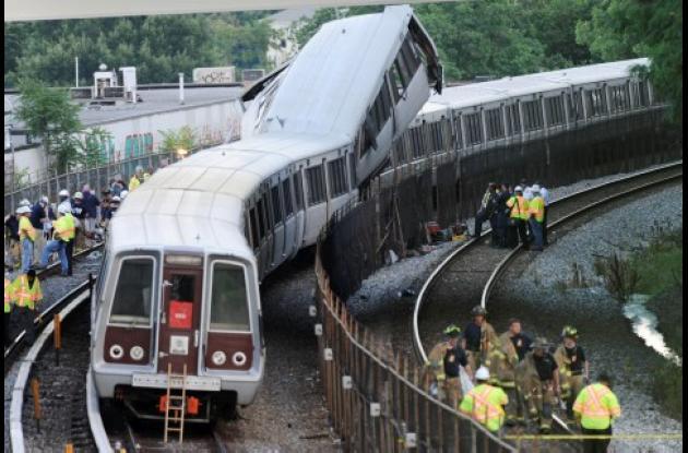 El choque de los dos trenes subterráneos ocurrió en una hora pico de la capital estadounidense. Los heridos leves fueron conducidos en buses a diferentes hospitales.