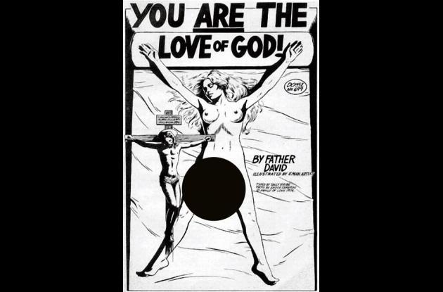Fascímil de la portada de un folleto escrito por David Berg (Father David).