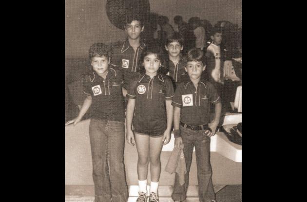 Finalistas categoría infantil de bolos  - 1977.