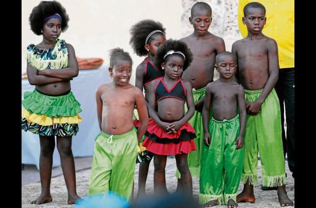 Niños de la Escuela Benkos Bioho de Palenque.