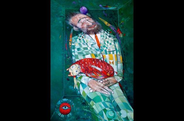 Algunas de sus obras más recientes retrata a Fidel Castro.