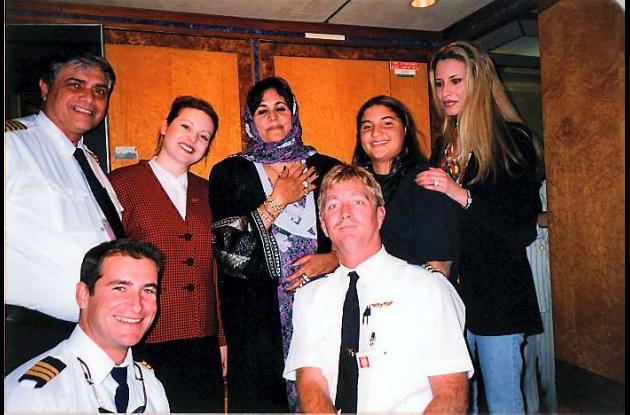 foto del álbum familiar en el antiguo cuartel general de Muamar Gadafi
