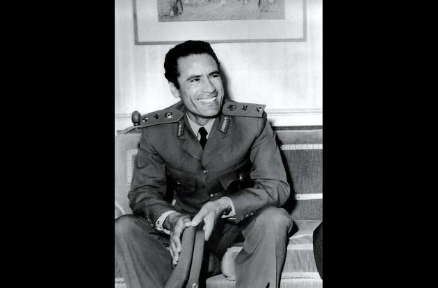 Moammar Gadafi.