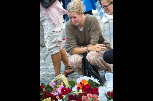 Familiares de las víctimas de tragedia en Noruega, Oslo