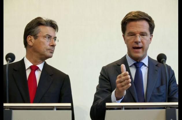 Mark Rutte y Maxime Verhagen