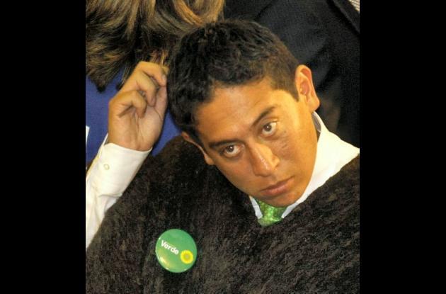 Carlos Amaya, representante por el partido Verde.