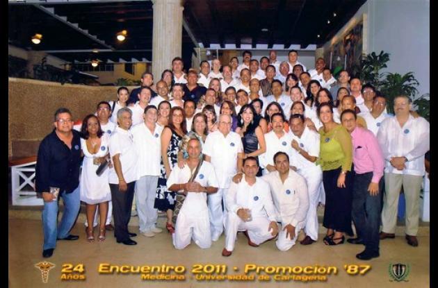Aniversario de la promoción 1997 de Unicartagena.