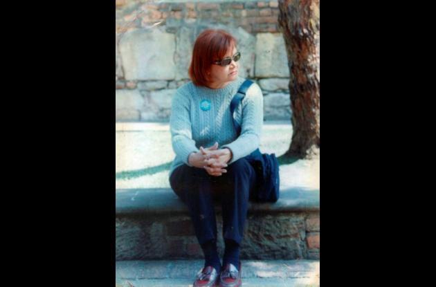 La artista Gloria Díaz.