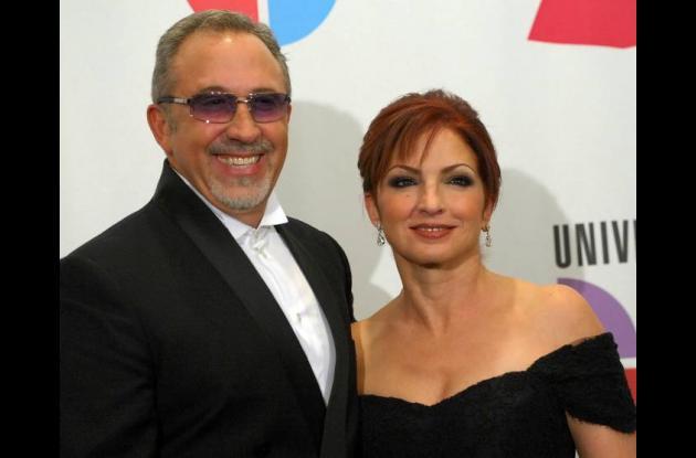 Los cantantes y productores Emilio y Gloria Estefan.