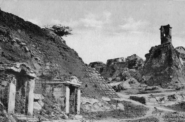 Castillo de San Felipe, en la primera mitad del Siglo XX.