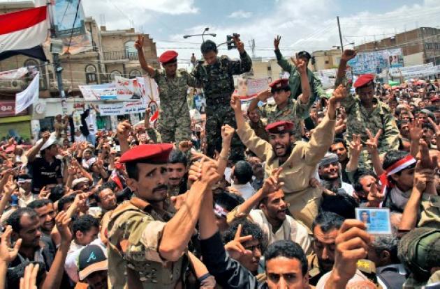 Habitantes de Yemen en conflicto