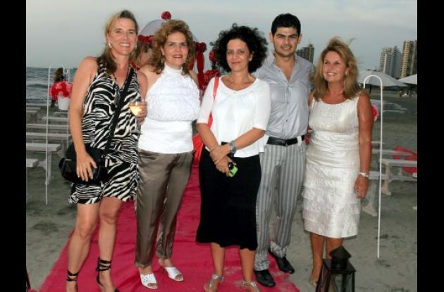 Erika Gitterle, Marta Lucía Noguera, Simone Lejour, Andrés Cortés y Carmen Cecilia de Ángel.