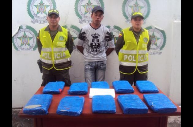 Operativo contra tráfico de drogas.
