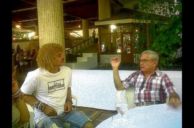 El Pibe y Carlos Villalba Bustillo.