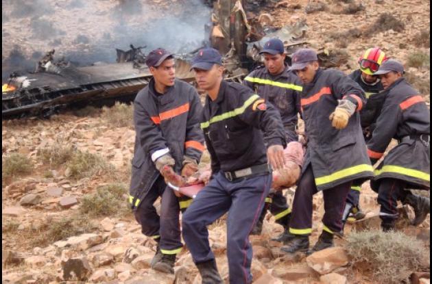 Avión accidentado en Marruecos dejó 80 personas muertas