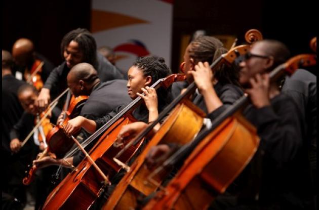 El grupo africano Buskaid Soweto String Ensemble.