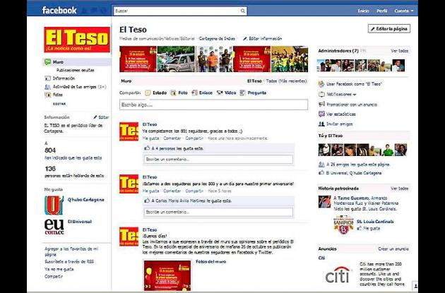El Teso en Facebook.