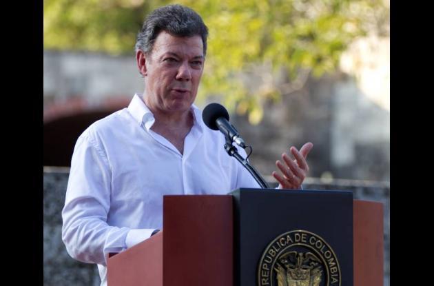 De otra parte el presidente Santos destacó la forma pacífica como se realizaron