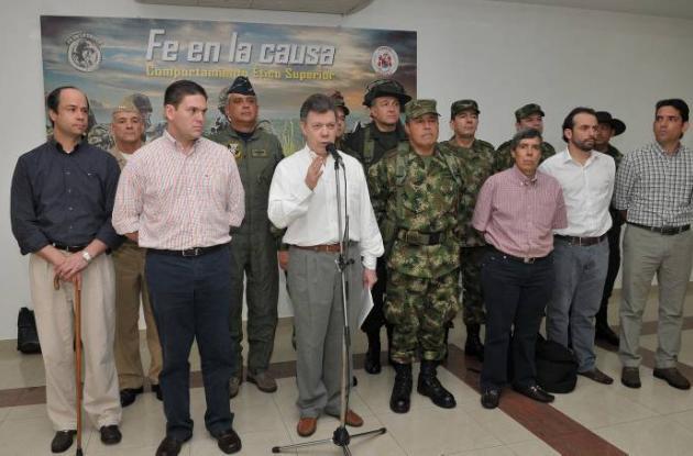 Juan Manuel Santos informa la muerte de 35 guerrilleros de las Farc