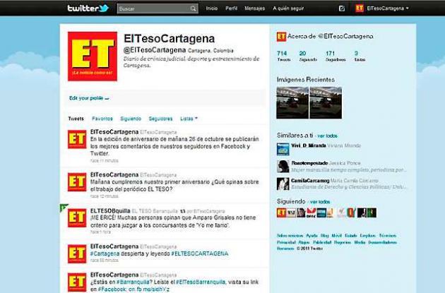 El Teso en Twiter.