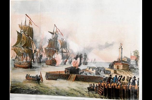 Sitio de Vernon en 1741.