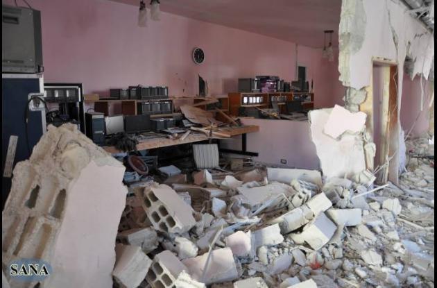 Atentado contra medio de televisión en Siria