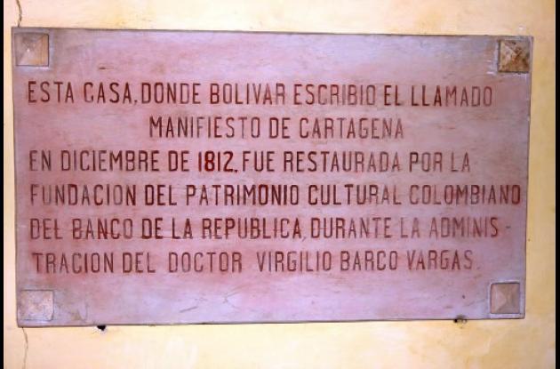 Desde Cartagena, Simón Bolívar inflamó el patriotismo