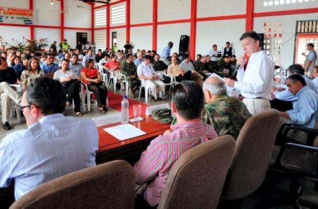 El presidente Juan Manuel Santos en el Consejo de Seguridad en Tierralta