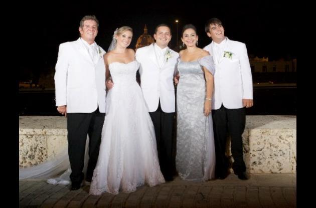 De izquierda a derecha: Carlos Bozzi, Tatiana Bozzi, José Alberto Herazo, Magaly Imbett y Juan Andrés Bozzi.