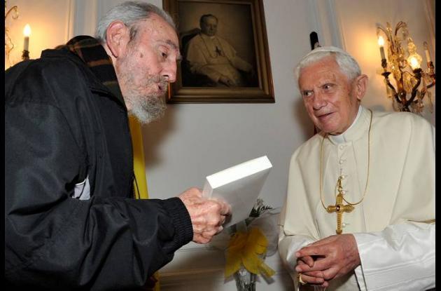 Papa Benedicto XVI y Fidel Castro