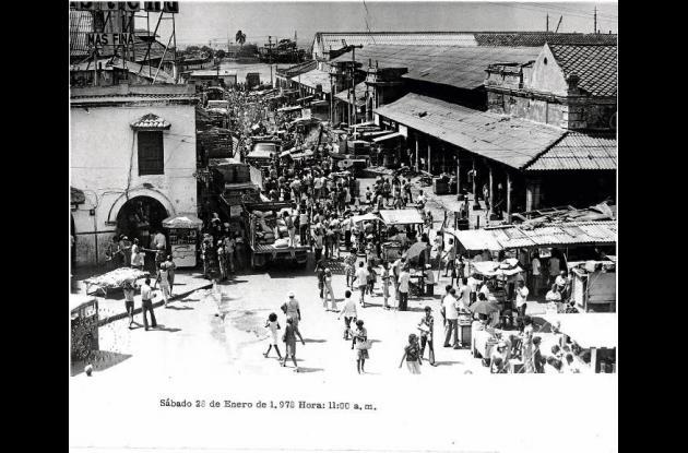 El viejo Mercado Público de Cartagena,  a principios de los 70.