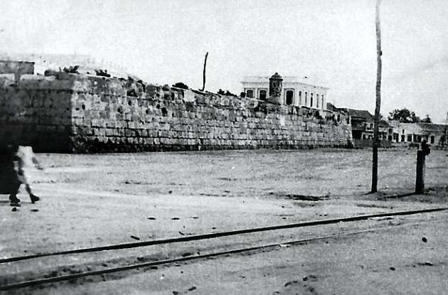Línea del tren de Cartagena.
