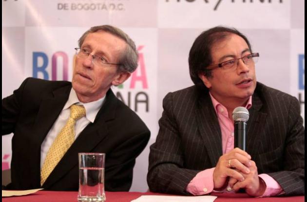 Antonio Navarro Wolf y Gustavo Petro