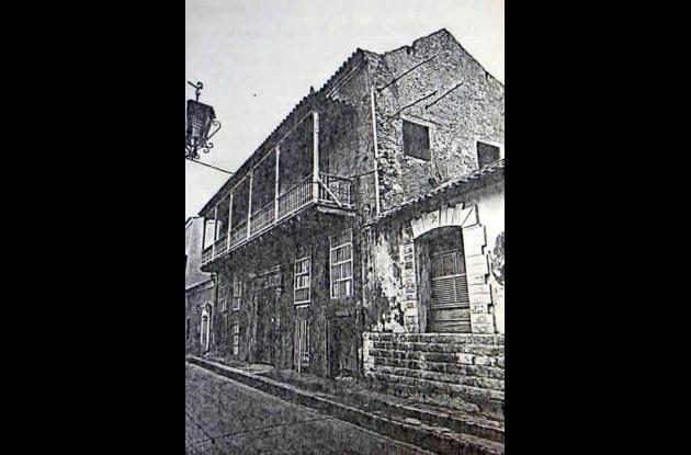1969.  Casa recién entregada al Colegio Mayor.