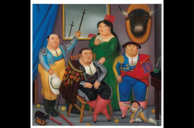 Escena familiar,  obra de Fernando Botero.
