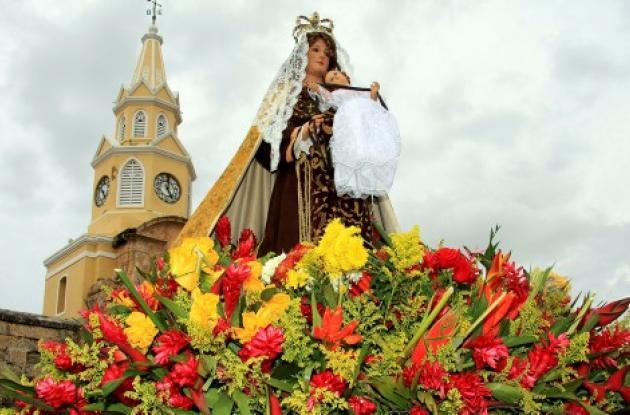 Las festividades en honor a la Virgen del Carmen atraen habitualmente a muchos peregrinos.