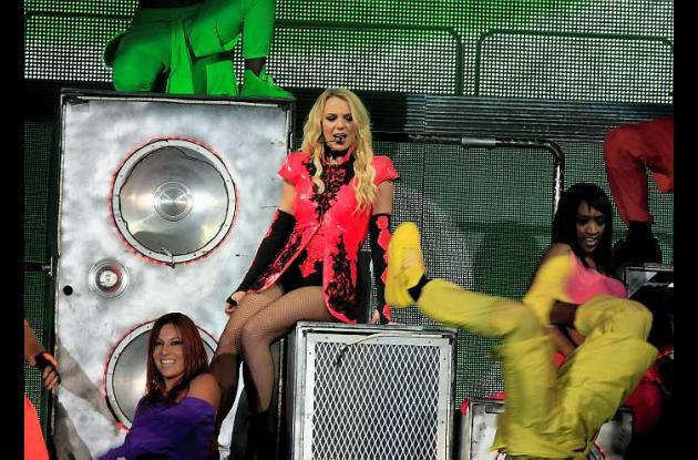 Britney Spears en su concierto en Bogotá.