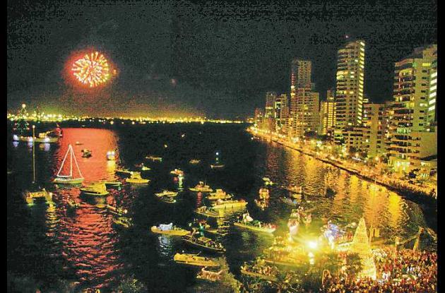 Navidad Mar Adentro, en la Bahía de Cartagena, es uno de los eventos más bonitos