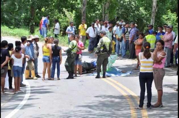 Joaquín Segundo Hernández murió ayer en un accidente de tránsito en Canalete.