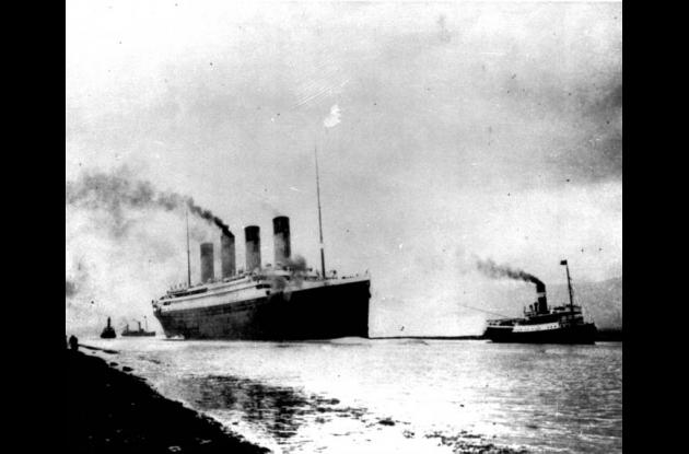 Foto del Titanic del 10 de abril de 1912.