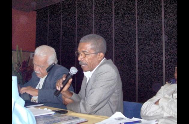 Álvaro Díaz, (izquierda) y Robinson Suárez, de Córdoba en el Seminario de Actualización de Periodismo Deportivo en Bogotá.