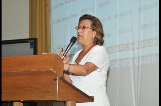 Luz Amparo Fonseca, presidenta de Conalgodón.