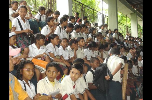 La comunidad educativa apoyó el proyecto de transformación del colegio.