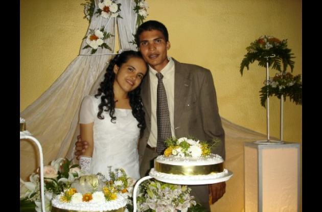 María José Altamiranda y Luis Fernando Suárez en la ceremonia religiosa.