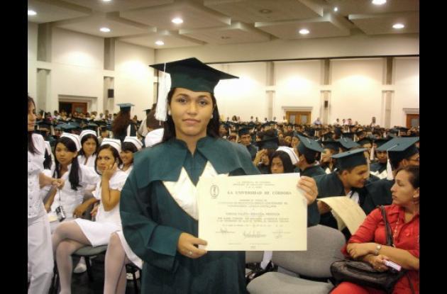 Marina Yuliet Berrocal Mendoza recibió su grado en la Universidad de Córdoba.