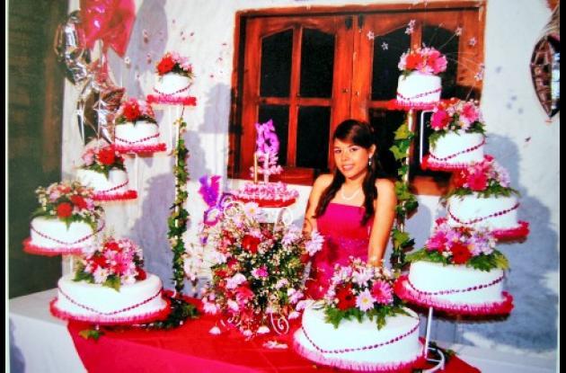 Angélica Castro Sejín en la celebración de sus 15 años.