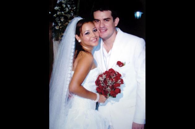 Laura Nova y Rafael Moreno Tobón el día de su matrimonio.